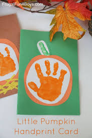 'Your Little Pumpkin' Handprint Card for Kids to Make | Keepsakes, Craft  and Activities