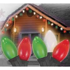 C9 Lights Walmart Set Of 25 Opaque Red Clear White And Green C7 Patio