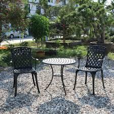 chair aluminum garden outdoor cast iron