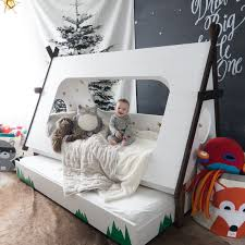 diy childrens bedroom furniture.  Bedroom DIY Toddler Bed In Shape Of A Tent U2013 Kids TeePee Trundle  In Diy Childrens Bedroom Furniture L