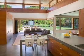 open kitchen living room designs. Kitchen:Open Plan Interior Of Modern Kitchen Across Living Room With Sectional Sofa Set The Open Designs
