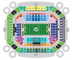 Hurricanes Interactive Seating Chart Miami Dolphins Stadium