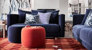 dark blue two seater sofa part of the stockholm 2018 collection