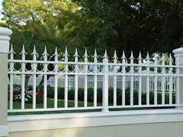 Wrought Iron Fences Heres a white wrought iron fence w