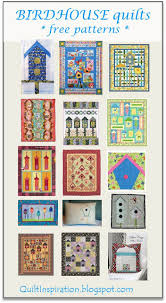 Quilt Inspiration: Free pattern day ! Bird houses & To go to a pattern, click on the hyperlink within the title above each quilt.  (Note: This post was updated on November 21, 2017.) Adamdwight.com