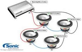 dual voice coil speaker wiring diagram images hook up how to wire two dual 4 ohm subwoofers to a 4 ohm final