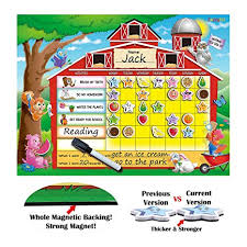 2 Year Old Behavior Chart Zazzykid Reward Behavior Chart For Kids 16 5 X 12 6 Inches Board With Star Magnets Dry Erase Pen