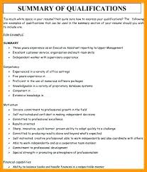 Examples Of Qualifications For Resumes Resume Qualification Examples Thrifdecorblog Com