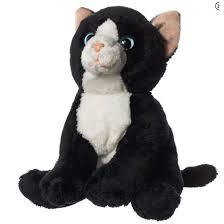 Hamleys <b>6</b>-<b>Inch Black</b> & White Cat <b>Soft</b> Toy | Shopee Malaysia