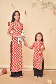 Áo Dài Đà Nẵng - ☘️ Áo dài mẹ và bé vải Lụa Hàn ✅ Chất vải...