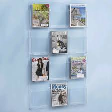 Clear Acrylic Magazine Holder Enchanting China 32 Pocket Acrylic Wall Mounted Magazine Rack Manufacturers