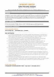 Security Analyst Resume