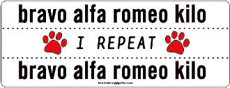 Each letter of the alphabet has a target word to increase understandability in spelling. Nato International Phonetic Alphabet Bark Bravo Alfa Romeo Kilo New