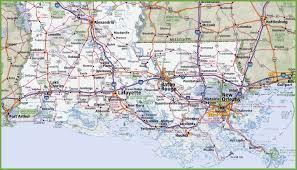 map of southern louisiana