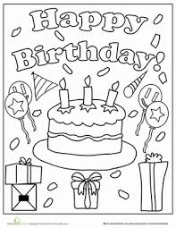 Small Picture Birthday Coloring Pages Worksheets Birthdays and Happy birthday