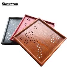 Wooden Trays To Decorate Pallet Kung Fu Tea Saucer Fruit Plate Tea Tray Decoration Storage 85
