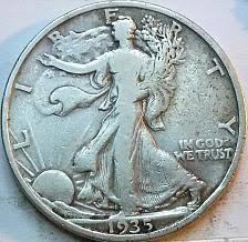 1935 Silver Half Dollar Value Chart 1935 Walking Liberty Half Dollar Coin Value Prices Photos