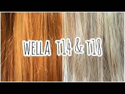 wella toner t14 t18 trying to get