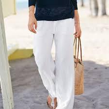 Artisan Ny Size Chart Nwt White Linen Pants Drawstring Tie 100 Linen M Boutique