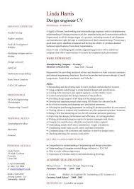Cv Samples For Engineering Students Design Engineer Cv Sample Experience Of Developing Test Models Cv