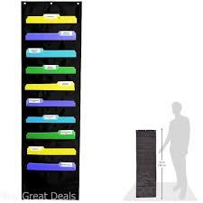 Details About Chart Pocket Wall Mount Storage Hang Magazine Rack Folder Office Document File