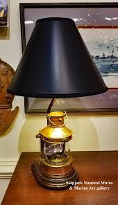 vintage copper masthead lantern nautical table lamp