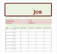 21 Job Sheet Templates Samples Doc Pdf Excel Free Premium