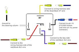 5 pin relay wiring diagram resembles how the top schematic is 4 pin relay wiring diagram horn at Relay Wiring Diagram 87a