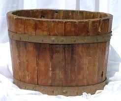 half wooden barrel
