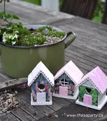 how to make a fairy garden house. Exellent Make How To Make A Fairy Garden House From Dollar Store Birdhouse And An Old  Seed And To Make A E