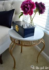 painted furniture makeover gold metallic. accent table makeover with pale gold metallic paint from modern masters project by the blue painted furniture r