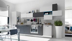 Perfect Modern White And Gray Kitchen Via Open Kitchens With Few Pops Of Impressive Design