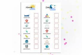 Daily Checklist Chart Morning And Evening Kids Routine Chart Daily Checklist Family Organization Kids Planner To Do List Routine Checklist Daily Tasks Children