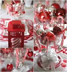 Candy Cane Table Decorations unique christmas red white colors theme party candy cane theme 7