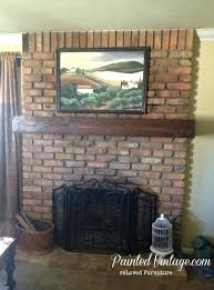 build brick fireplace how to a mantel wall over wood