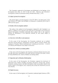 toshiba investigation report summary
