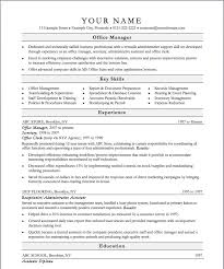 Office Resume Template 75 Images Work Resume Template Word