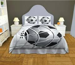 soccer bed set minimalist boy bedroom decor with personalized grey soccer comforter set grey curved upholstered soccer bed