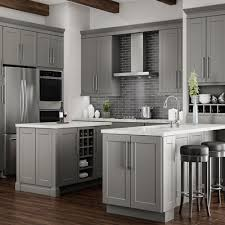 Shop Hampton Bay Shaker Dove Gray Cabinets