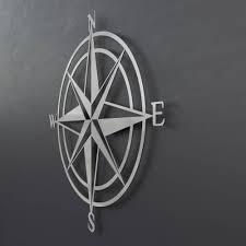 3d compass metal wall art nautical rose compass large metal wall art nautical wall decor outdoor art metal compass rose silver wall art