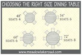 inspiring kitchen idea from round dining table size for awesome seat 48 seats how many inch