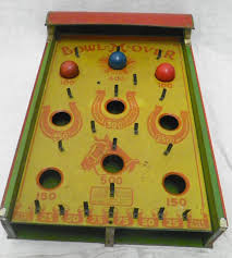Antique Wooden Bowling Game Vintage Bowl M Over Tin Toy Bowling Game Antique Tabletop Pinball 18