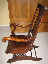 image detail for collectibles general antiques rocking chair with wood coil