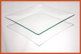 8 square clear bent glass plate 1 8