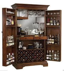 Howard Miller 695-064 Sonoma - Cherry Finished Hide-a-Bar & Wine Cabinet