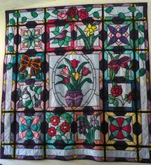 Stained Glass Quilt Pattern Interesting Stained Glass Flower Garden I Have Had The Patterns For This Quilt