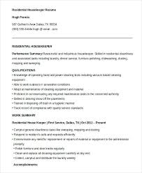Housekeeping Resume Examples Extraordinary Sample Housekeeping Resume Hflser