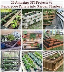 repurpose pallets into garden planters