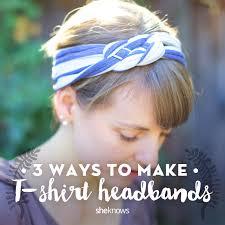 t shirt headbands tutorials