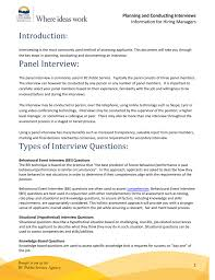 Situational Based Interview Questions Planning And Conducting Interview Guidelines